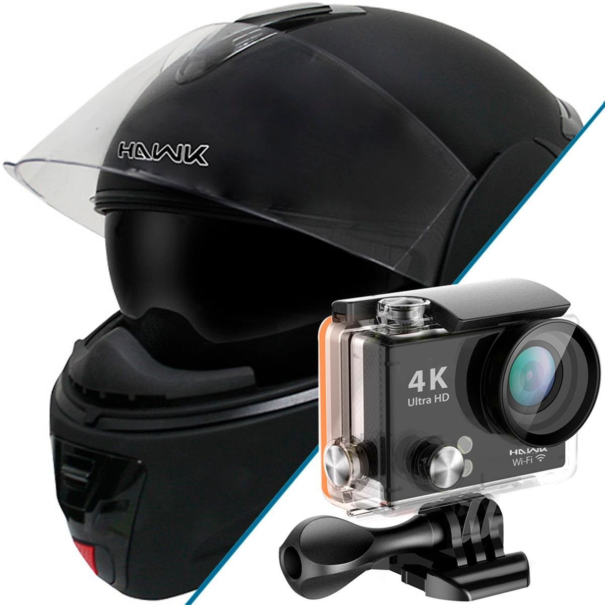 Hawk H-66 Dual-Visor Modular Motorcycle Helmet