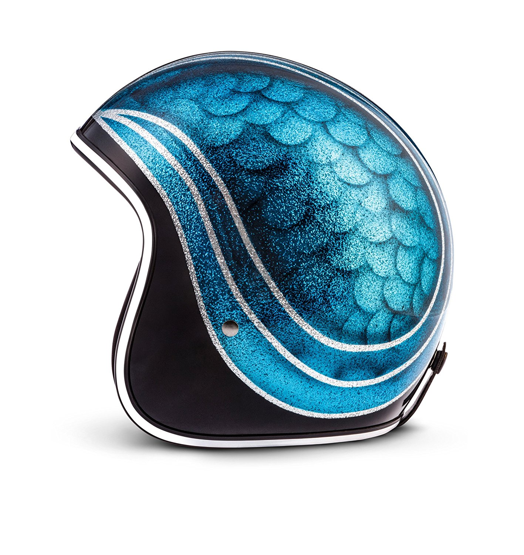 Rebel R3 Blue Joint Open Face Helmet