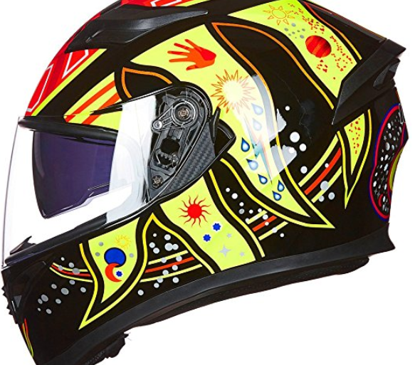 9 Colors Full Face Dual Visor Motorcycle Helmet