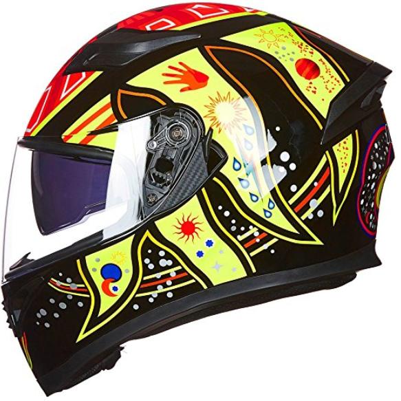 9 Colors Full Face Dual Visor Motorcycle Helmet