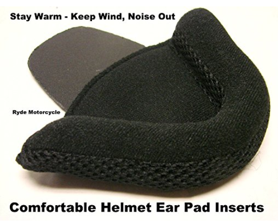 Bear Claw #MC-DEP Deluxe Motorcycle Shorty Half Helmet Ear Pad Inserts