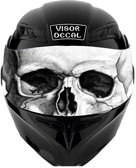 V25 Skull VISOR TINT DECAL Graphic Helmet Sticker from SF