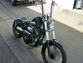 Nitrous Express Dyna built by Illusion Motorcycles of U S A
