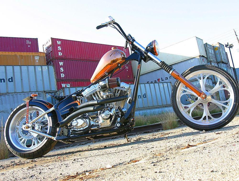 50 39 s copper hardtail built by west coast choppers wcc of. Black Bedroom Furniture Sets. Home Design Ideas
