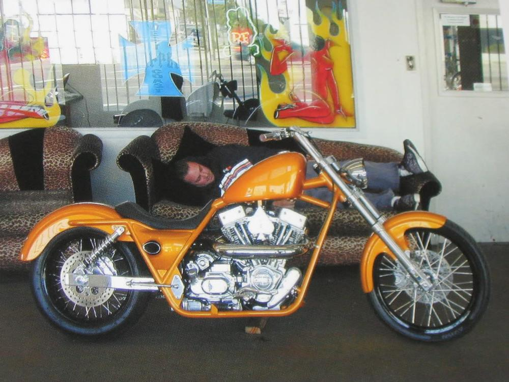 Gold Modified Fxr Built By West Coast Choppers Wcc Of U S A