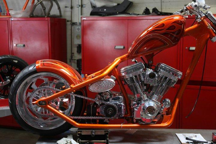 Orange El Diablo Built By West Coast Choppers Wcc Of U S A