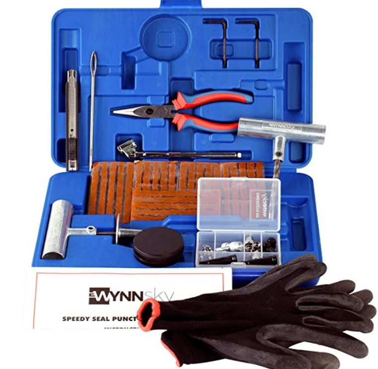 WYNNsky New Ideal 60 Pieces Tire Repair Tools Kit