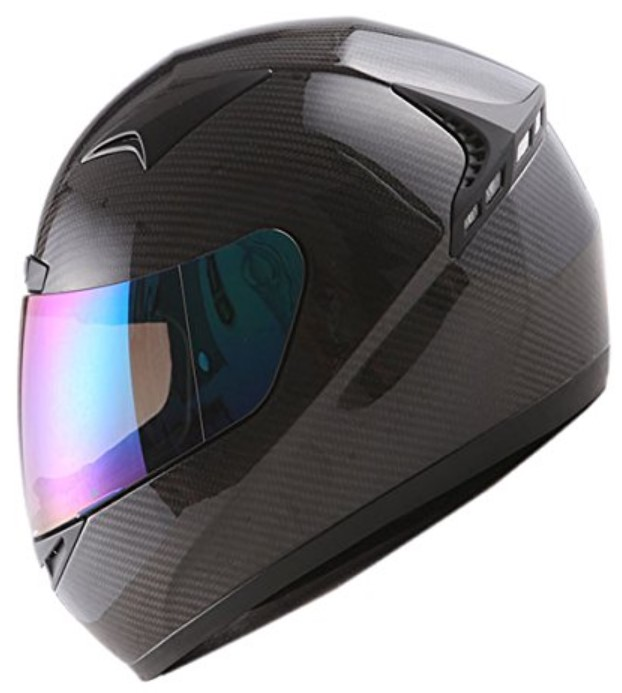 Genuine Carbon Fiber Motorcycle Street Bike Full Face Helmet