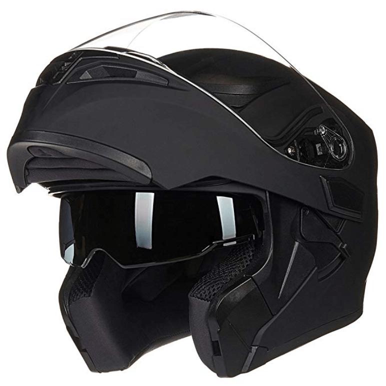 ILM Motorcycle Dual Visor Flip up