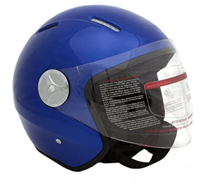Motorcycle Scooter PILOT Open Face Helmet DOT BLUE