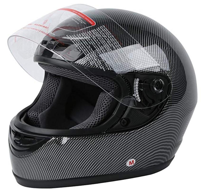 XFMT DOT Adult Carbon Fiber Flip Up Full Face Motorcycle Helmet