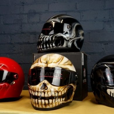 Blaze ArtWorks custom helmets
