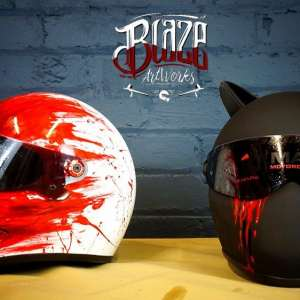 Custom Airbrushed Motorcycle Helmets from Blaze ArtWorks