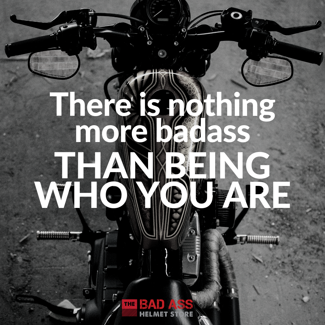 Be yourself biker chick quote