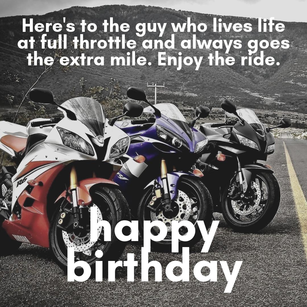 Full Throttle Biker Birthday Meme