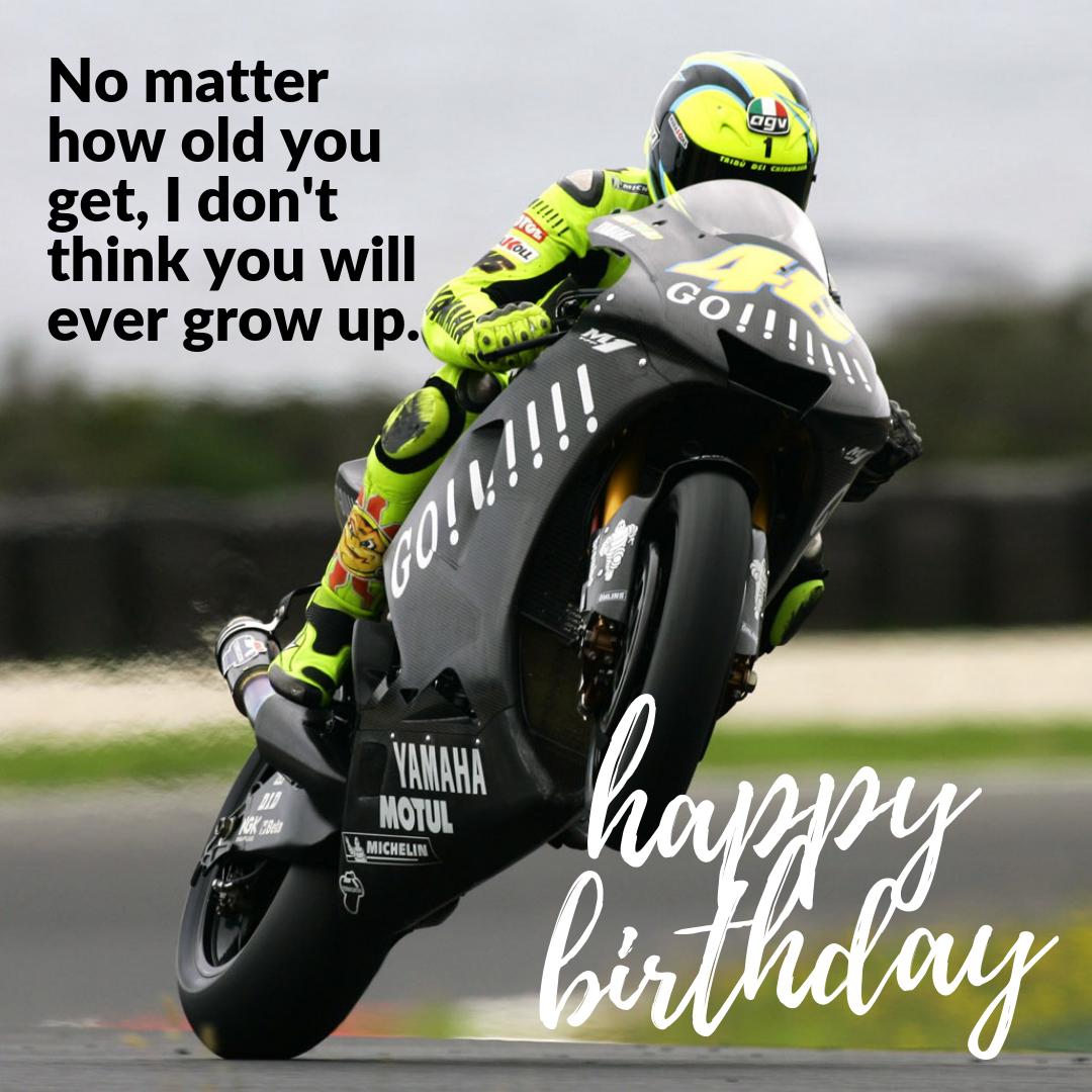 Never Grow Up Biker Birthday
