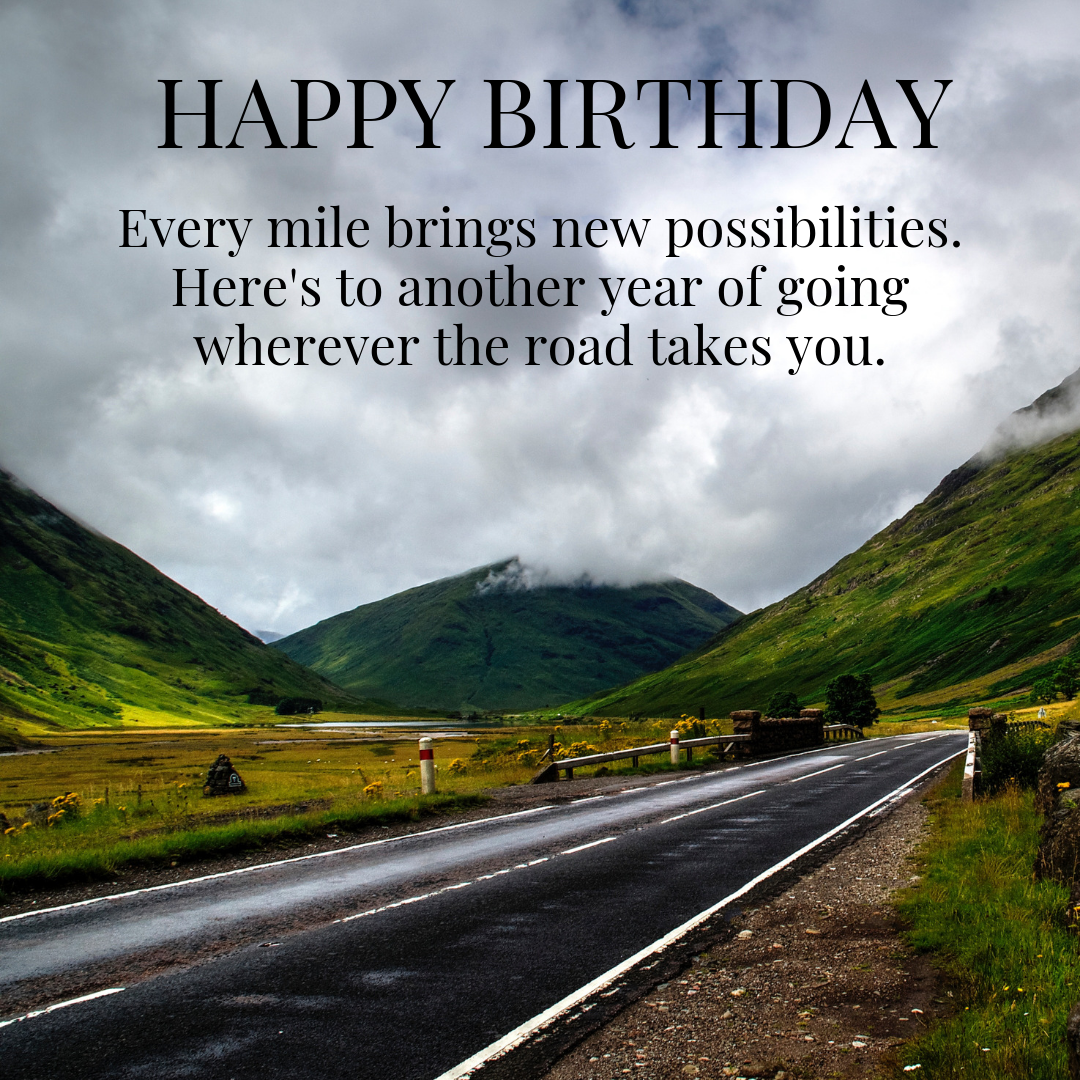 Birthday Quote for Motorcycle Rider