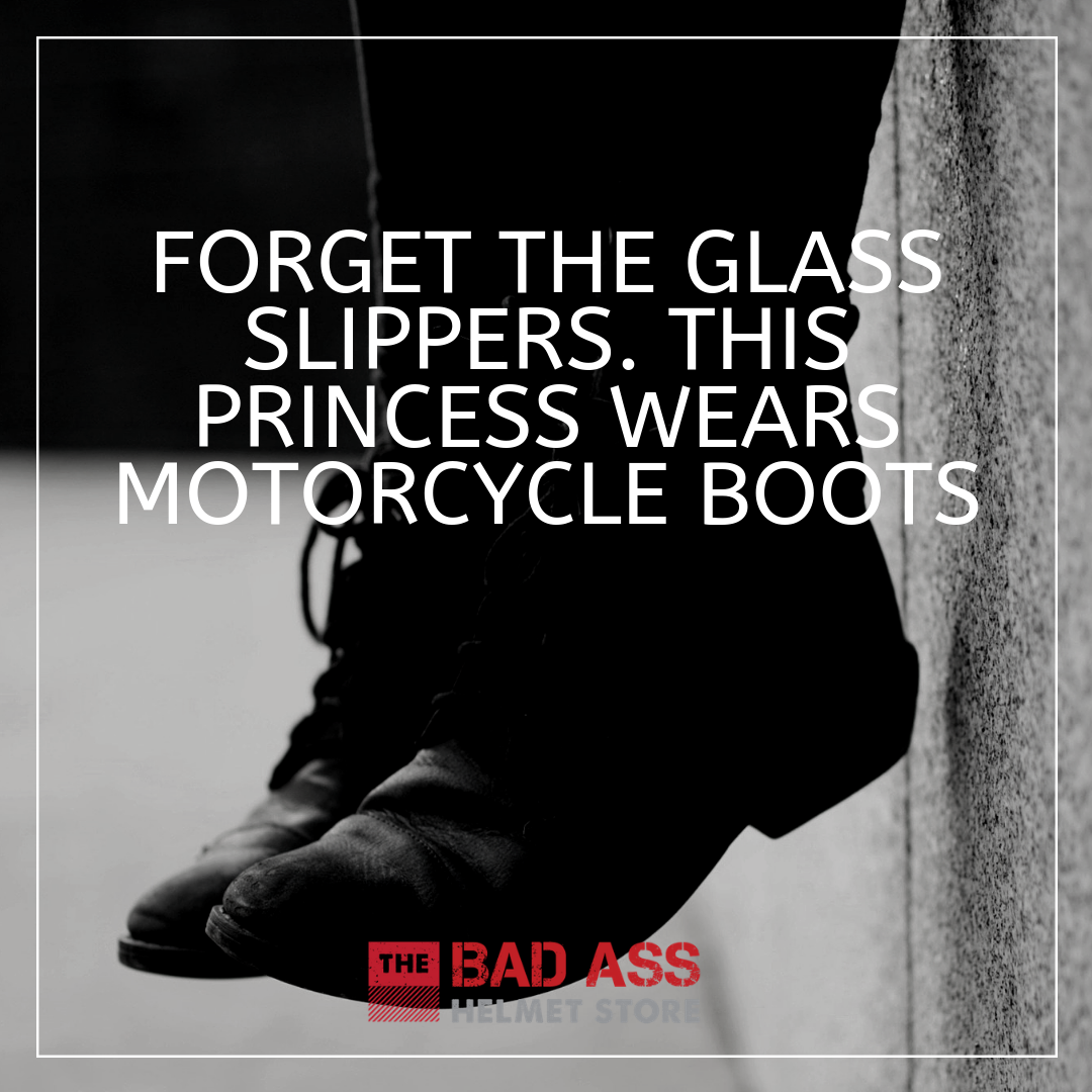 Forget the glass slippers. this princess wears motorcycle boots