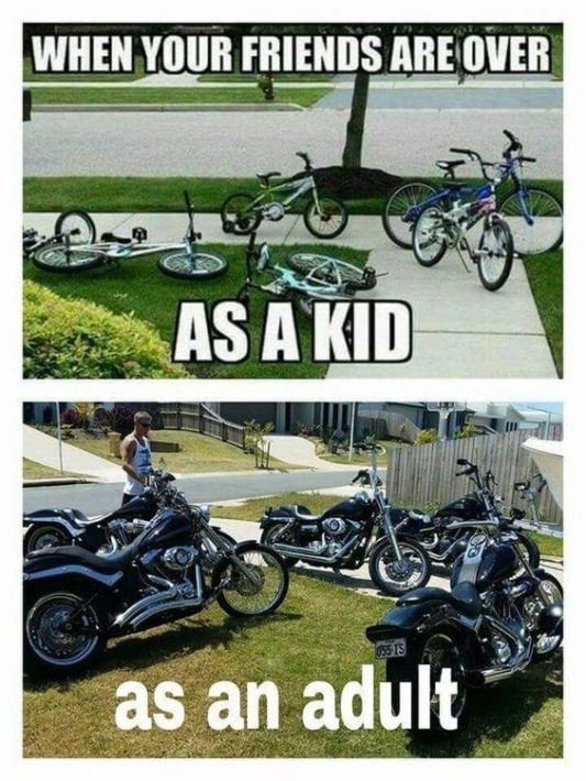 Funny Motorcycle Friends Meme