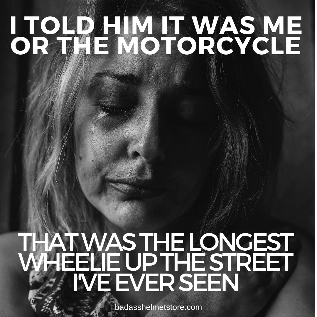 It's Me or The Motorcycle Funny Meme