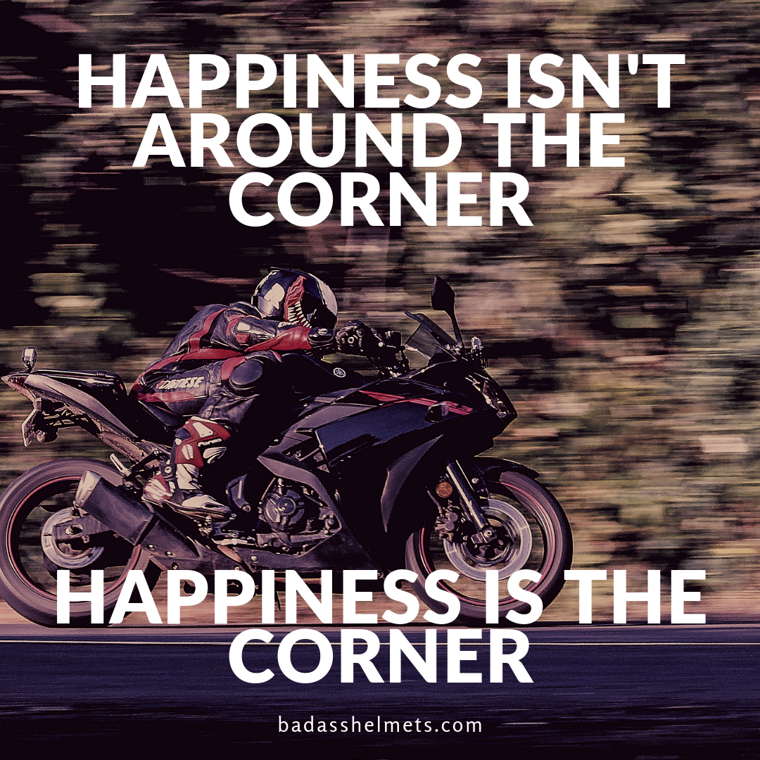 Happiness & Corners - Motorcycle Meme