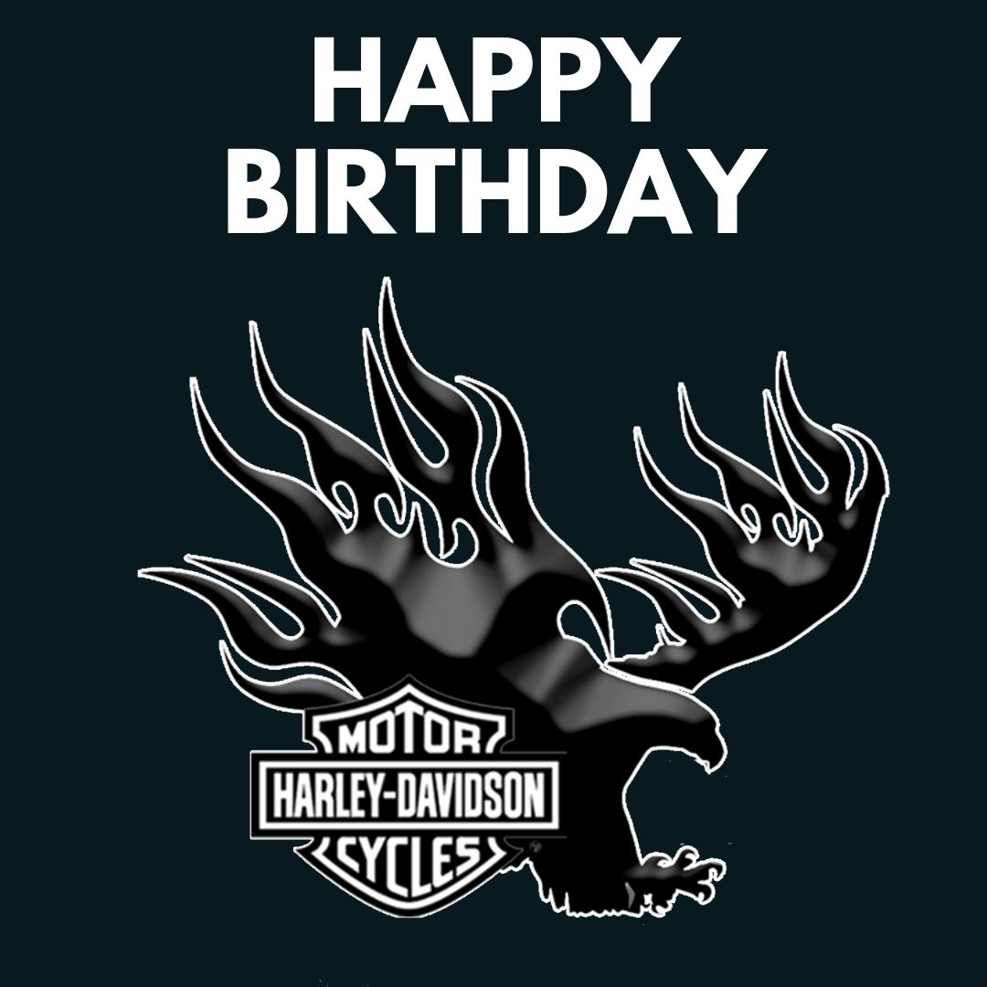 Harley Happy Birthday Logo