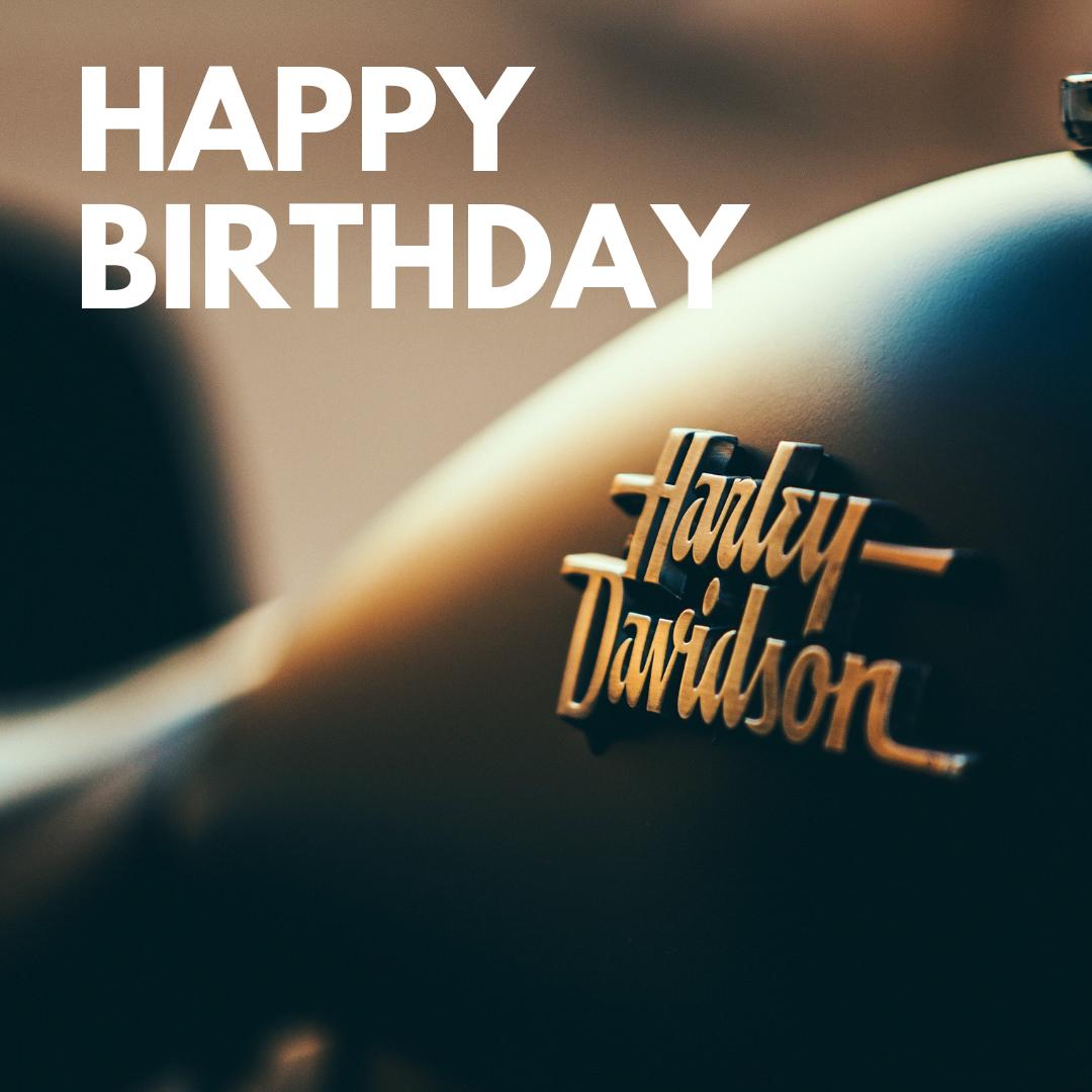 Harley Davidson happy birthday