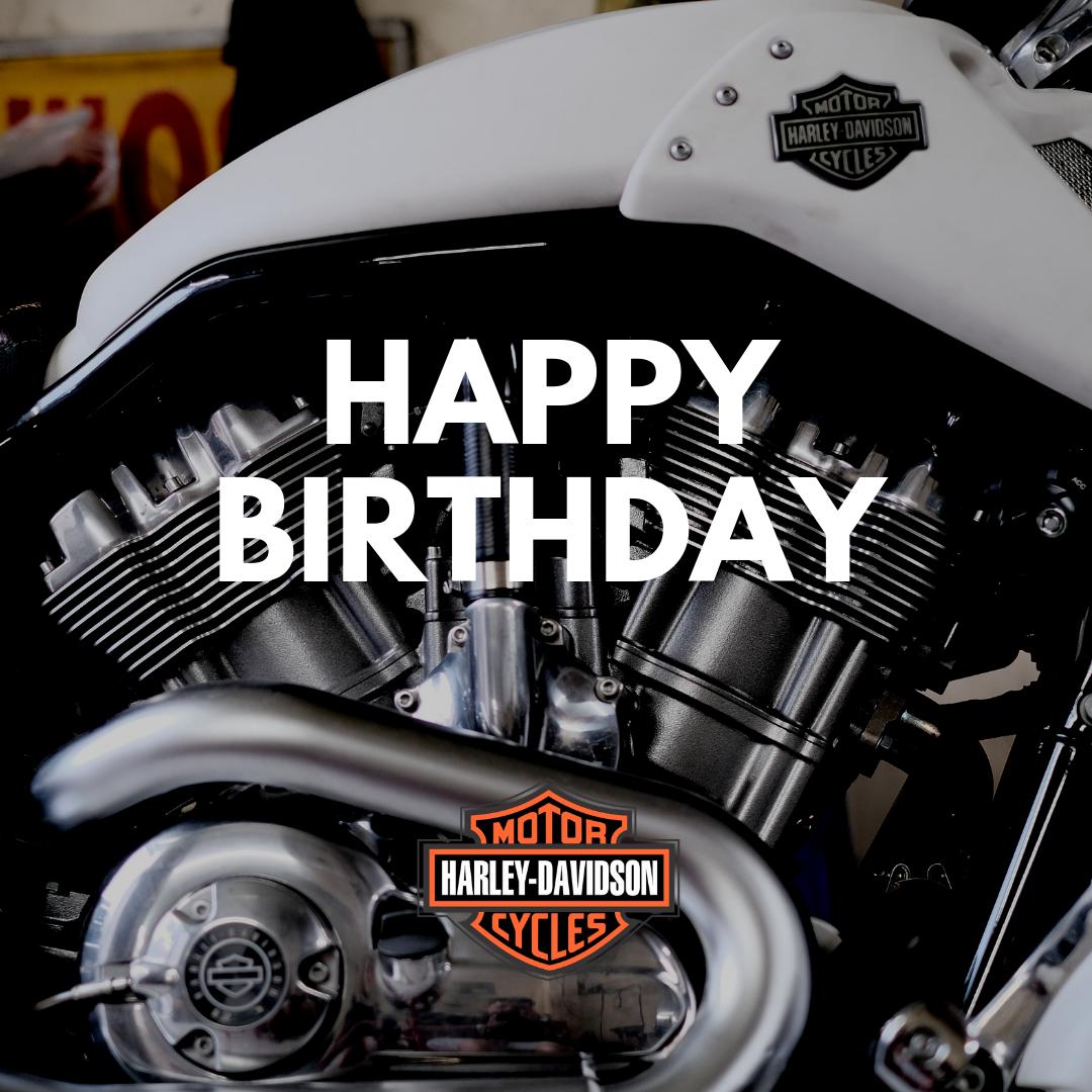 Clean Harley-Davidson Birthday Image