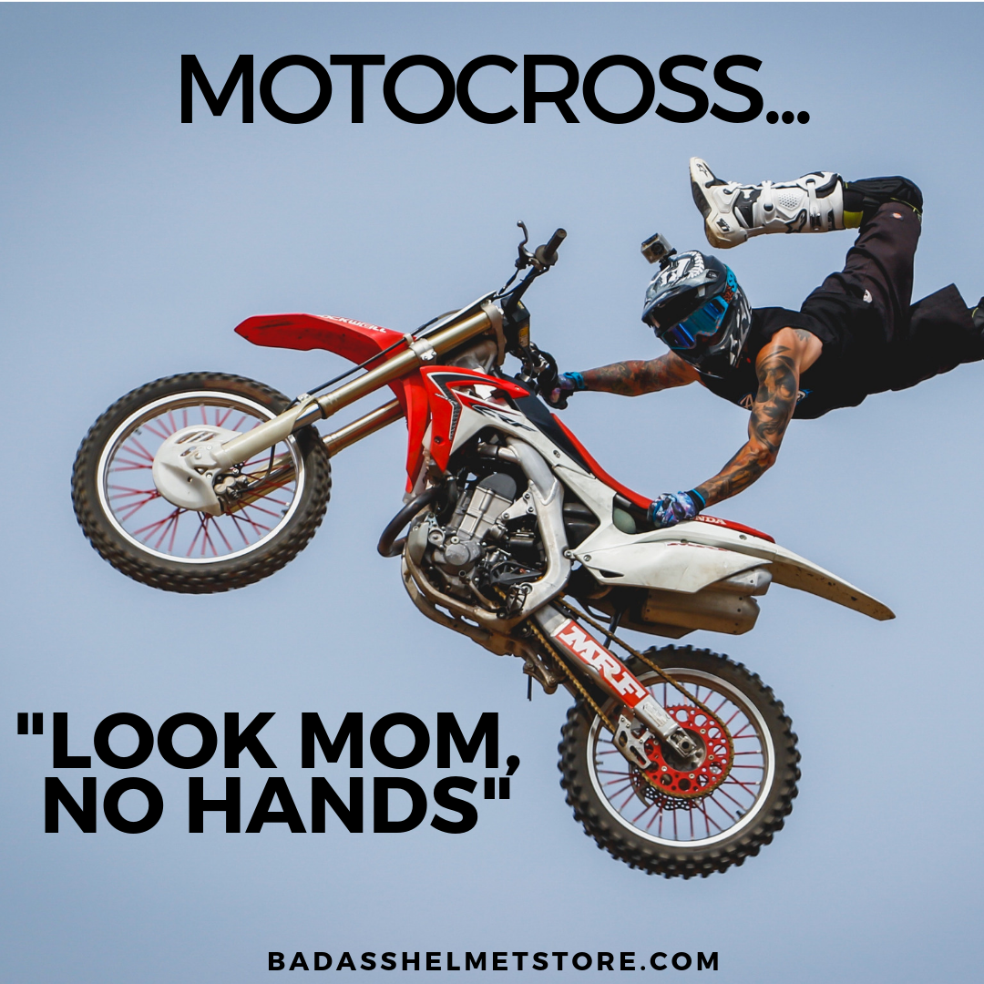 Look Ma, No Hands - Motocross Meme