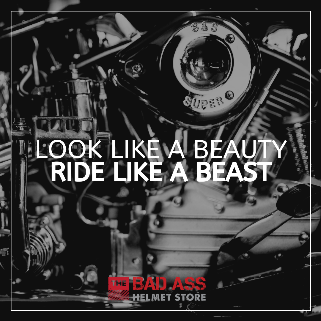 Looks like a beauty. Rides like a beast. Biker chick quote