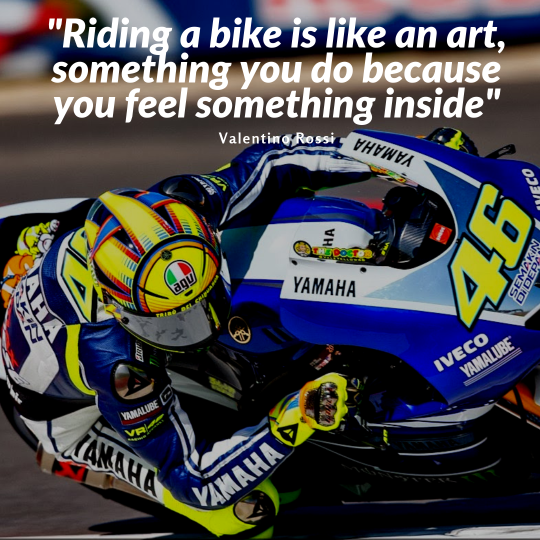 [Saying] Riding a Motorcycle is Like an Art: Something You Do Because You Feel Something Inside