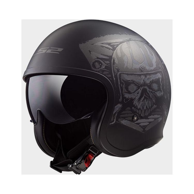 LS2 Spitfire Skull Rider Helmet