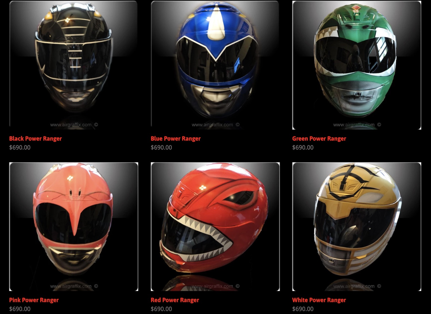 Power Rangers Helmets from Air Graffix
