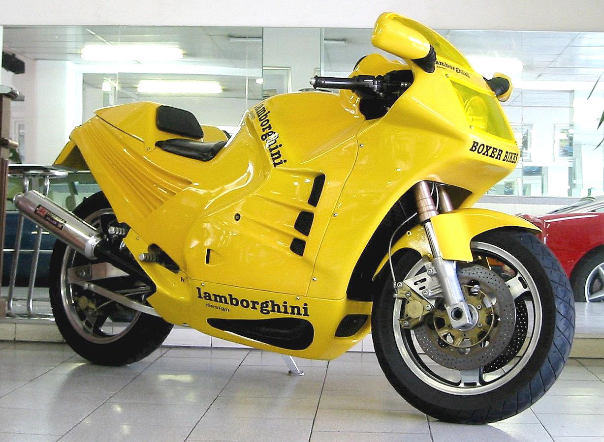 1987 Lamborghini Design 90 with Boxer Bikes logo