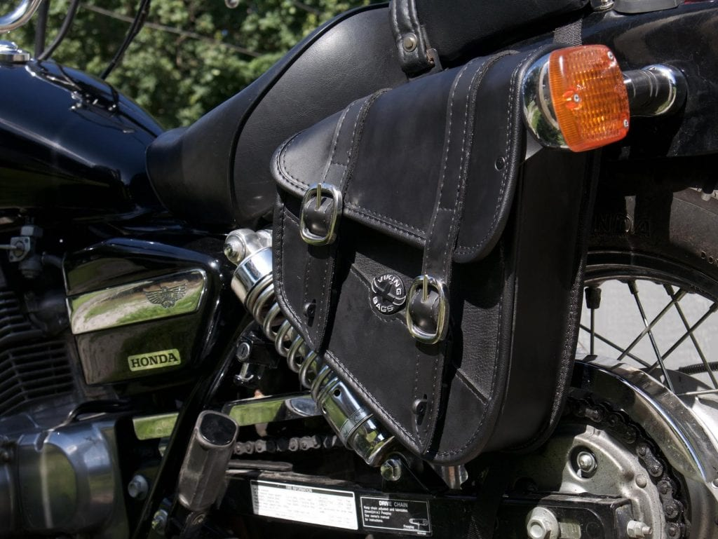 Viking Cycle Sportster Saddlebag on the bike