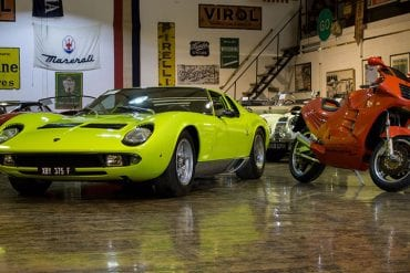 Lamborghini Miura and Design 90 bike
