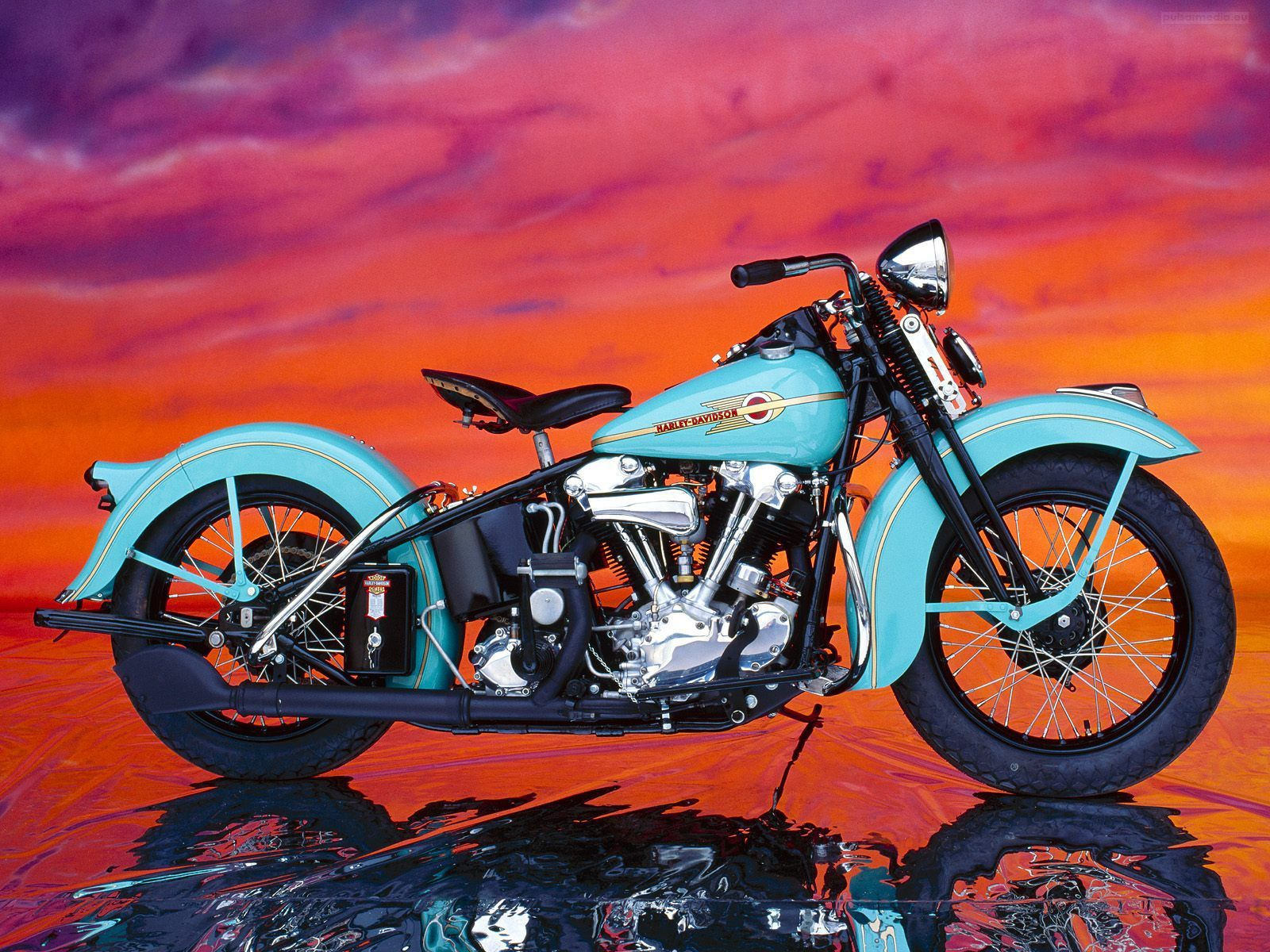 Old School Harley Davidson Motorcycle Wallpapers