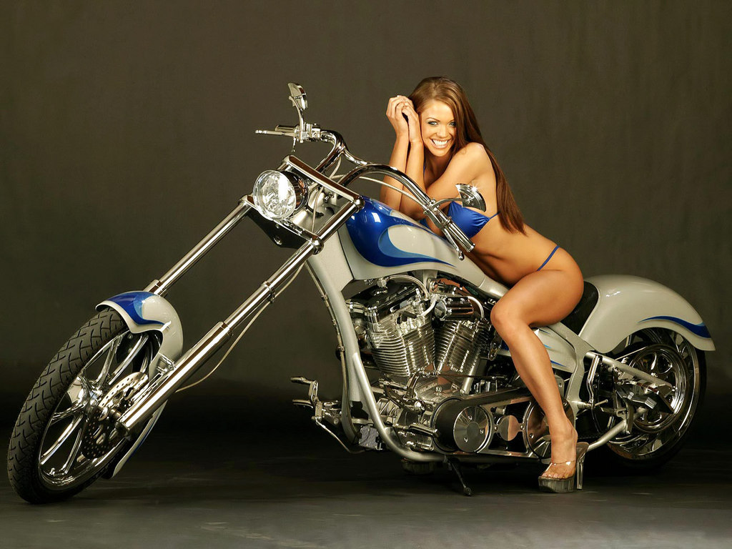 Hot Girls With Harley Davidson Wallpapers
