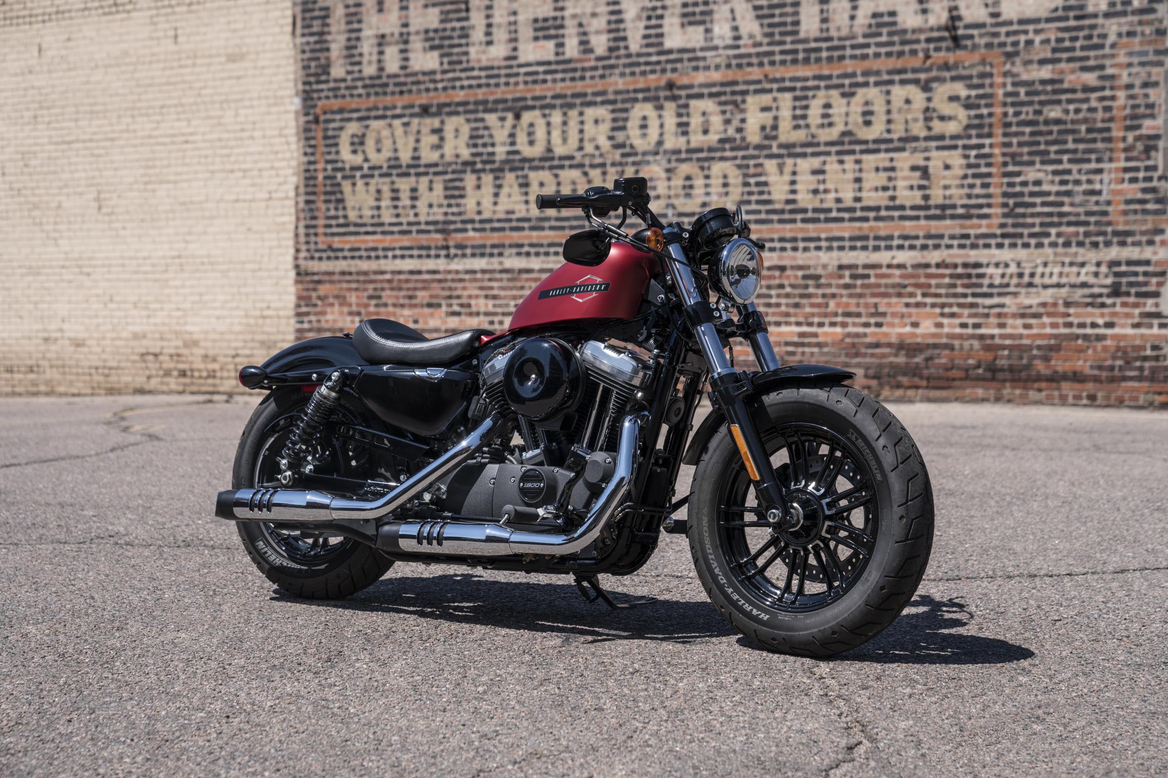 Black and Red Harley Davidson 48