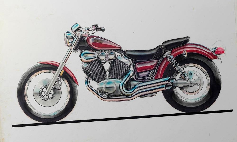 Yamaha Virago Design Sketch From Yamaha