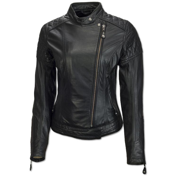 Black Roland Sands Riot Women's Leather Jacket