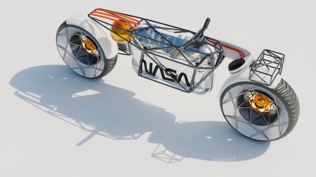 Hookie Company's Tardigrade Moon Motorcycle render