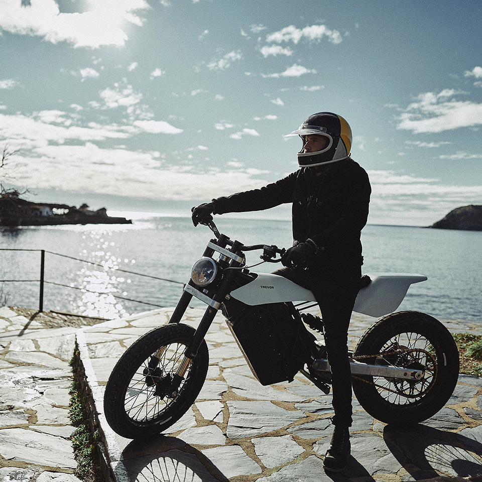 DTRe Stella by Trevor Motorcycles Spain on coastal path