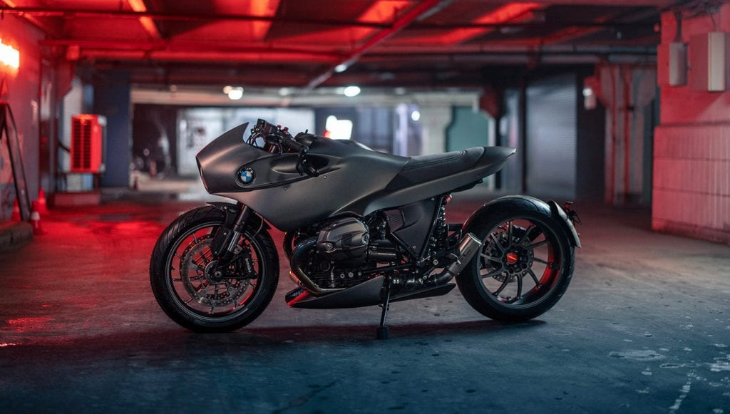 Custom BMW R NineT By Zillers Moscow in underground garage