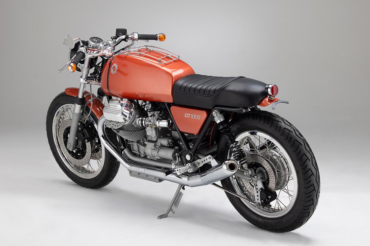 Moto Guzzi GT 1000 Roadster in orange by Kaffemaschine Germany
