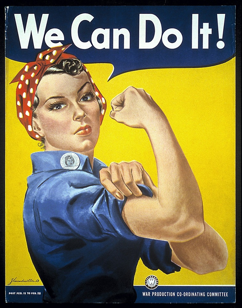 The 'Rosie the Riveter' 'We Can Do It!' War Poster from WWII