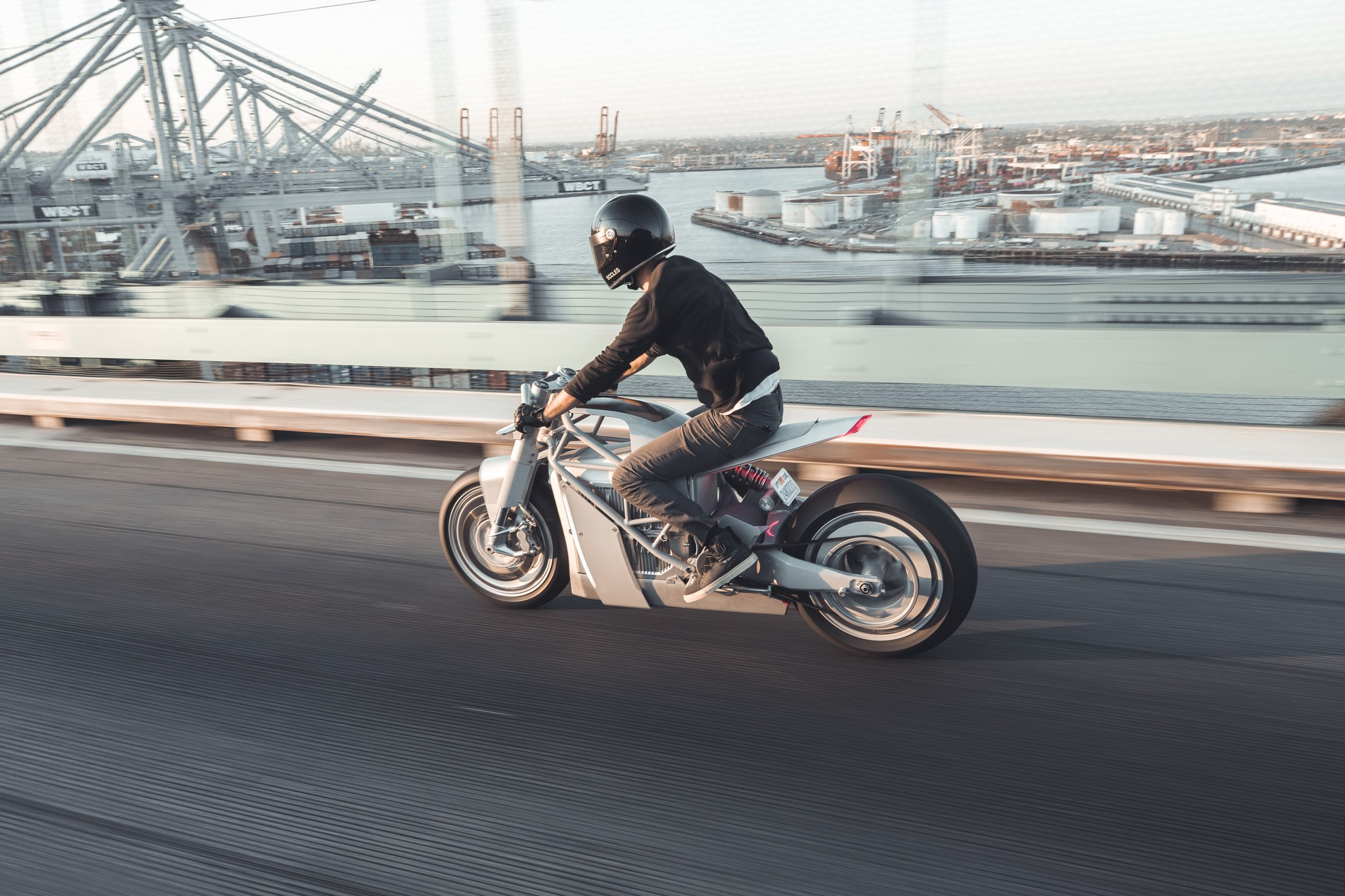 Hugo Eccles from San Francisco's Untitled Motorcycles on his XP Zero electric motorcycle