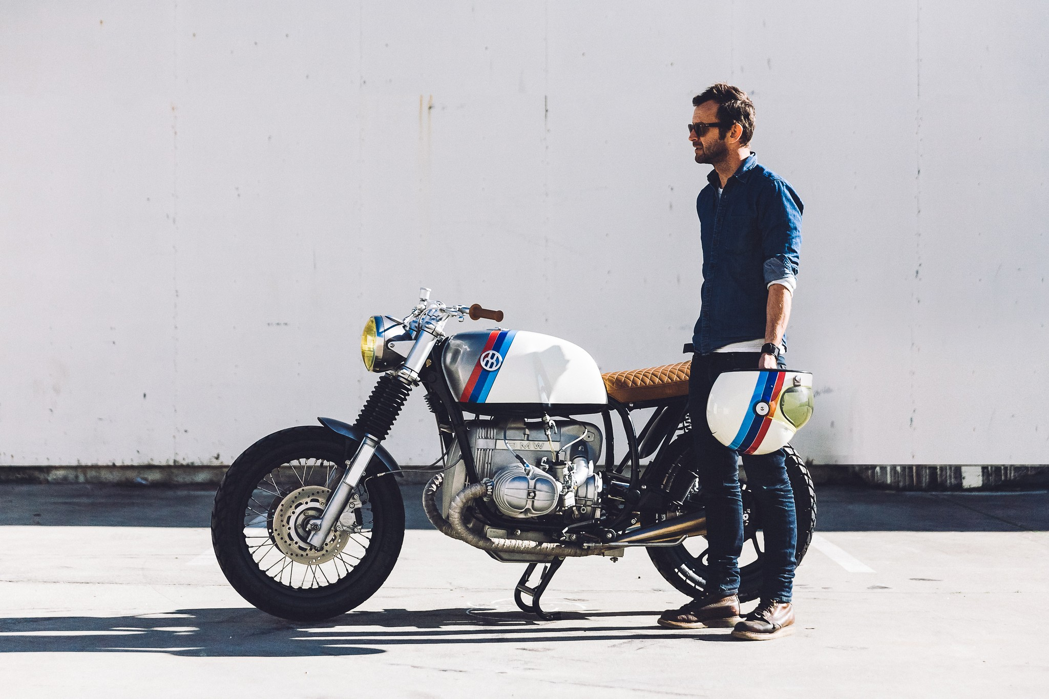 Hugo Eccles from San Francisco's Untitled Motorcycles with a BMW custom