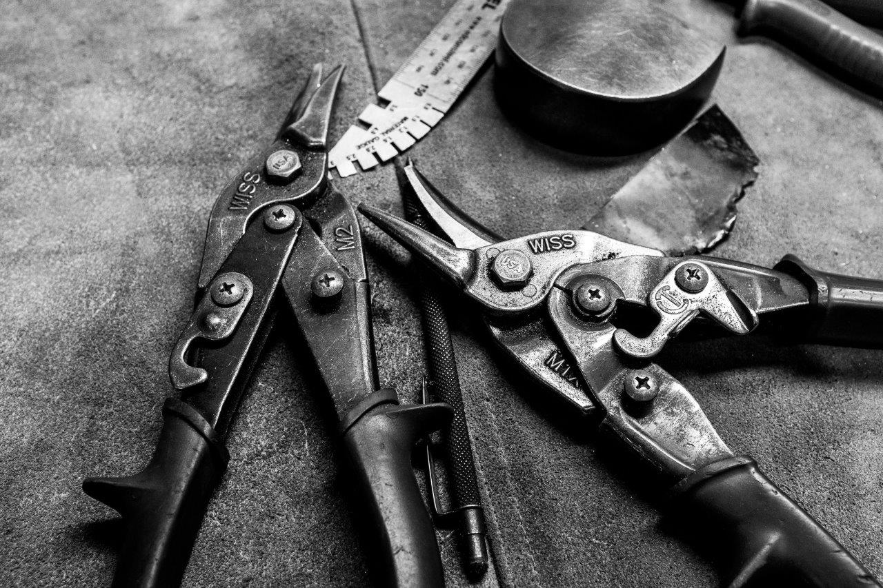 Coachbuilding tools in the workshop of Sydney's MotorRetro