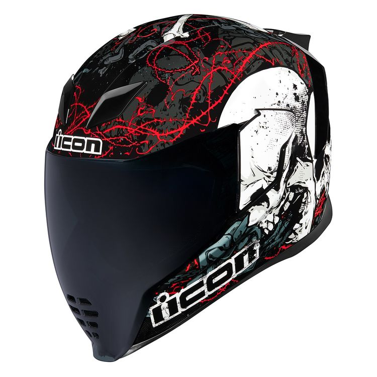 ICON Airflite Skull18 helmet with black and red design